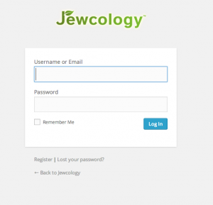 Jewcology-login