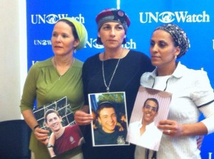 Mothers of the then-kidnapped boys appeal to the United Nations. Source: Israel Ministry of Foreign Affairs Website