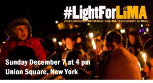 Vigil on December 7, 2014 at 4:00 pm in Union Square