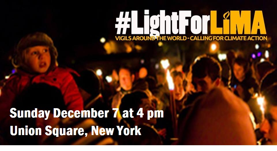 Lights for Lima NYC Vigil on December 7, 2014