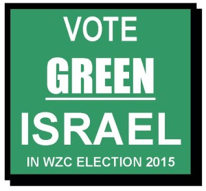 VOTE GREEN ISRAEL TWITTER